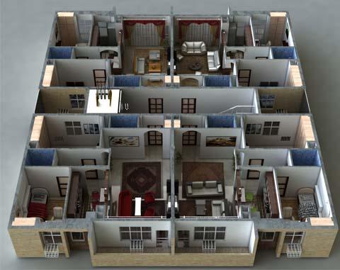 نمای داخلی تیپ D مهرشهر دزفول