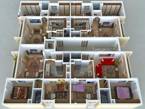 نمای داخلی طبقات مهرشهر دزفول